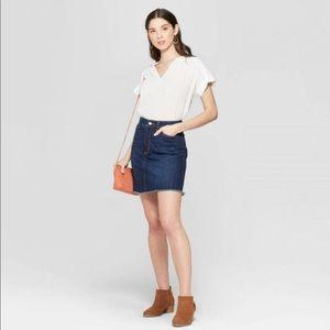 Universal Thread Denim Frayed Mini Skirt